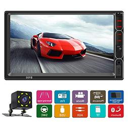 Double din car Stereo with Bluetooth 7 inch Car Radio with B