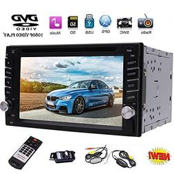 "EinCar 6.2"" Double DIN Car Stereo GPS Navigation Car Radio H"