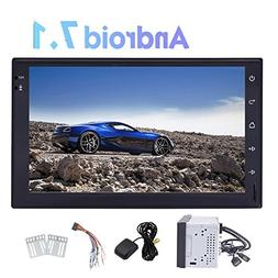 Double Din Car Stereo with Android 7.1 Nougat OS Quad Core 7