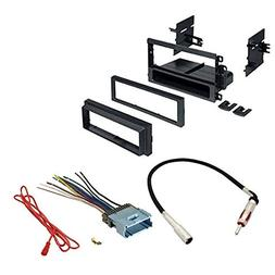 ASC Double Din Car Stereo Radio Dash Kit, Wire Harness, and