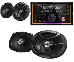 Double DIN Car Stereo Radio JVC KWR930bt 1 pair 2way 6.5 1pa