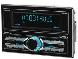 Double-DIN In-Dash CD AM/FM Receiver with Bluetooth