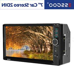 "Double Din Touch Screen Car Stereo 7"" HD MP5 MP3 Player In"