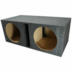 """Car Audio Dual 12"""" Vented Subwoofer Stereo Sub Box Ported En"""