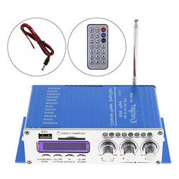 Kentiger FM Audio + MP3 Speaker Car Bluetooth Amplifier HiFi