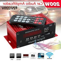 G8 Car 12V 200W 4 Channel Digital Power Amplifier Stereo blu