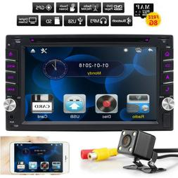 GPS Double 2 Din Car Stereo Radio CD DVD Player Bluetooth wi