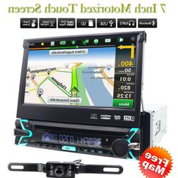"GPS Navigation 7""Single 1DIN Flip-Out Car Stereo DVD Player"