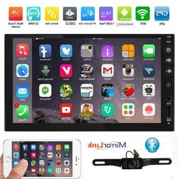 HIZPO GPS Navigation HD Double 2DIN Car Stereo DVD Player BT