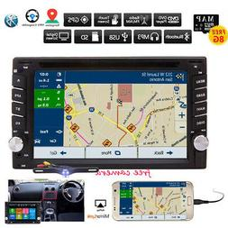 GPS Navigation With Map Bluetooth Radio Double Din Car Stere