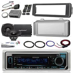 Harley Audio Package Of Kenwood KMR-D365BT Bluetooth CD MP3