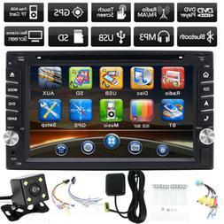 "HD 6.2"" 2 DIN GPS Navigation Car Stereo DVD Player Bluetooth"
