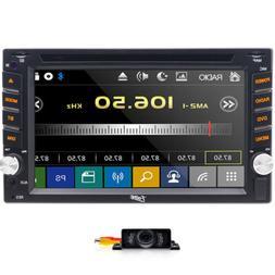 "HD Sony Lens Double 2Din 6.2""Car Stereo Radio GPS DVD Player"