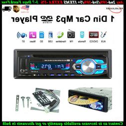 Single 1 Din Car DVD CD MP3 Player Radio USB/AUX/TF Bluetoot