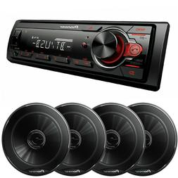 Pioneer In-Dash Single Din Car Stereo MP3 Bluetooth Media Re
