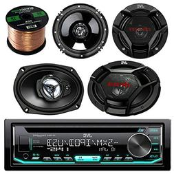JVC car CD player receiver USB AUX radio - bundle combo with