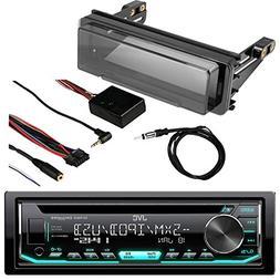 JVC KDR690S Radio USB AUX CD Player Receiver W/ Cover - Bund