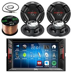 "JVC 6.2"" Touch Screen Car CD/DVD Bluetooth Receiver Bundle C"
