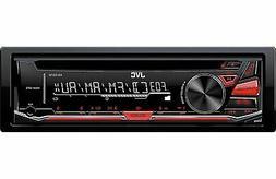 JVC KDR-370 Single Din In Dash Car Stereo CD MP3 AUX Player