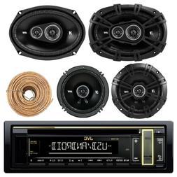 "Kenwood Car CD USB Bluetooth Stereo, Kicker 6x9"" and 6.5"" Sp"