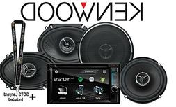 """Kenwood DDX395 6.2"""" in Dash Double Din DVD Receiver with Bui"""