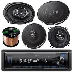 Kenwood Single DIN Bluetooth in-Dash AM/FM Car Stereo Receiv