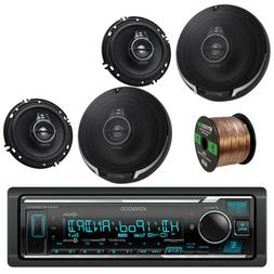 Kenwood Stereo Receiver With Bluetooth W/Kenwood 3-way Car S