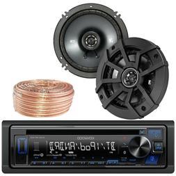 "Kicker 6.5"" Car 300W 4ohm Speakers, 50FT Wiring, Bluetooth K"