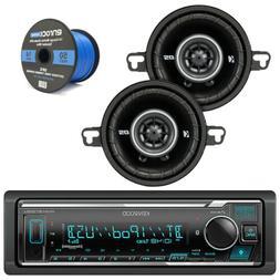 KMM-BT322U Bluetooth Stereo MP3 USB Car Receiver, Kicker 3.5