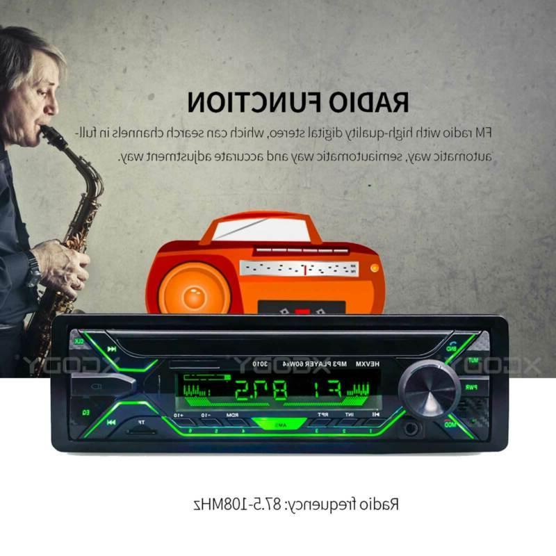 1 Din Radio MP3 FM Remote Head Unit
