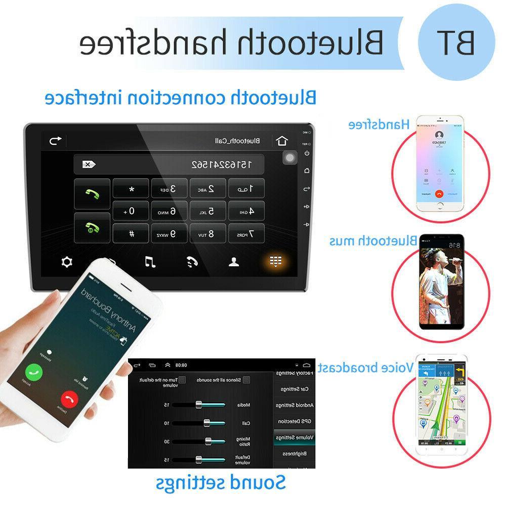 "10.1"" Car Radio Din Android 9.1 GPS Stereo Navi MP5 WiFi Quad"