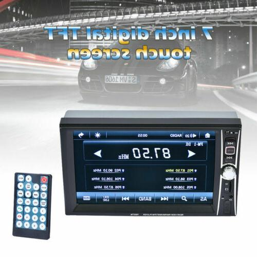 "1080P Stereo Radio 2 7"" FM Player Touch Screen"
