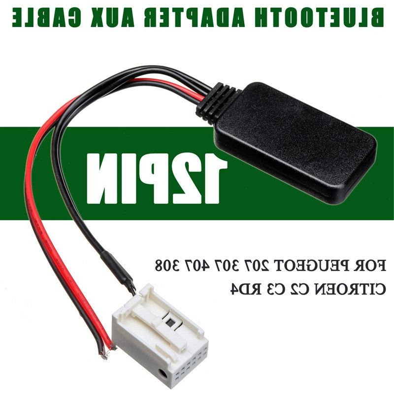 12Pin Radio <font><b>Stereo</b></font> AUX-IN Cable <font><b>Adapter</b></font> 207 407 For RD4 <font><b>Car</b></font>