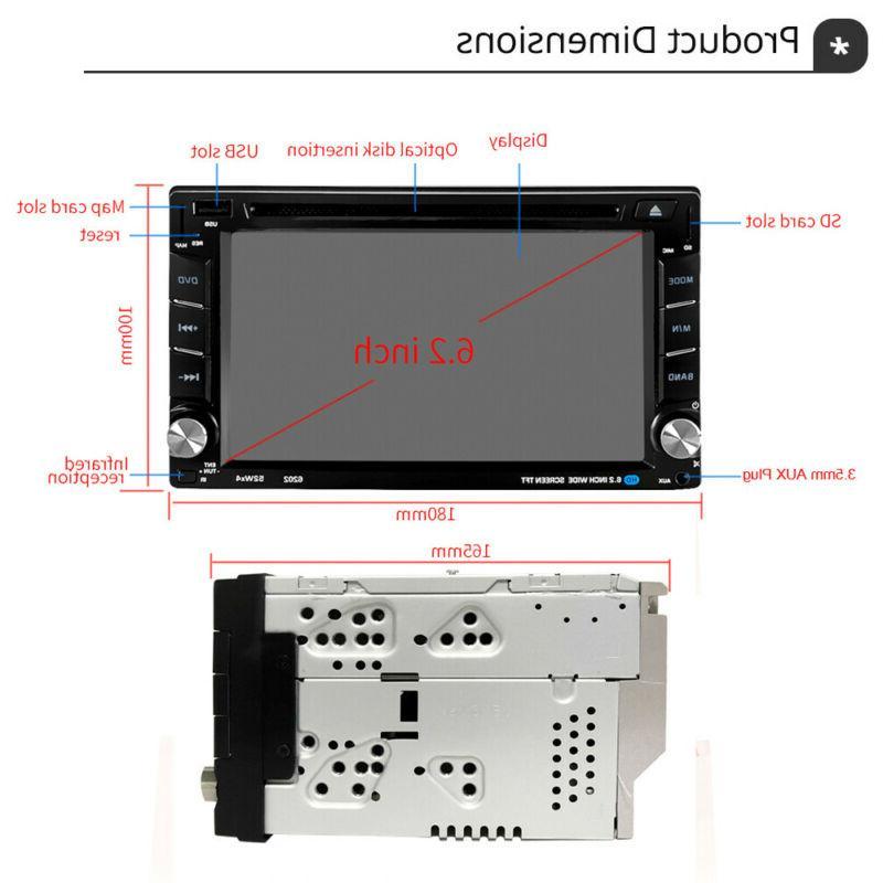 "6.2"" DVD SAT Navigation Touch Double 2 DIN"
