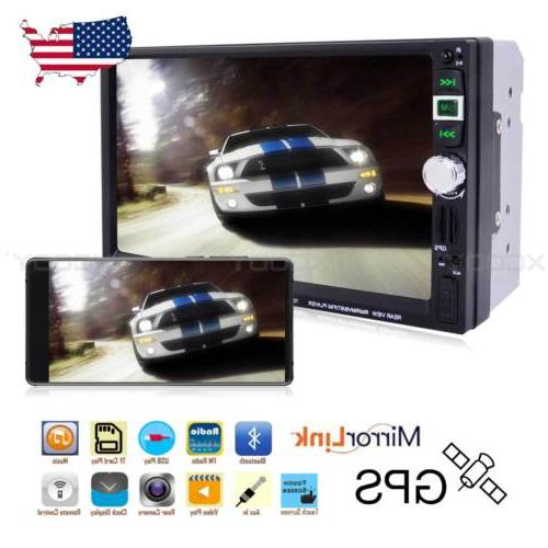 """2 DIN 7"""" Car Stereo Radio MP5 Player Touch Navigation Blueto"""