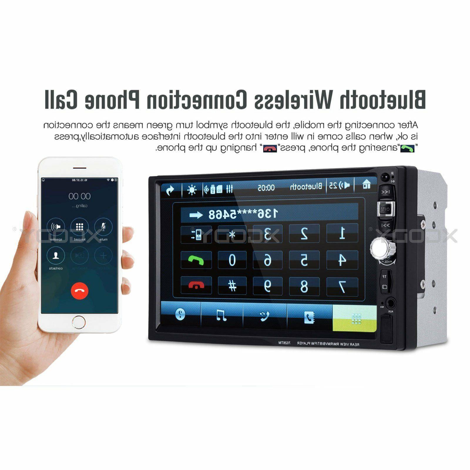 "2 7"" Car Stereo Radio Bluetooth Auto Mirror Camera 7026"