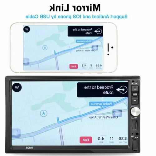 """2 7"""" Stereo Radio FM Player AUX Android/IOS Link Touch"""