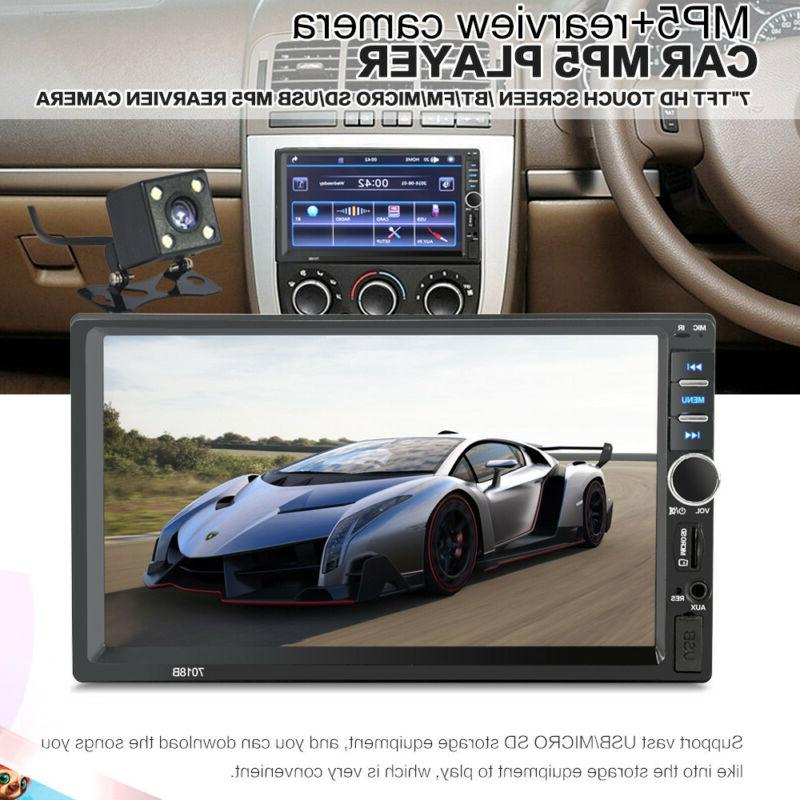 2-DIN 7inch Car MP3 MP5 Player TV FM Bluetooth Touch Screen