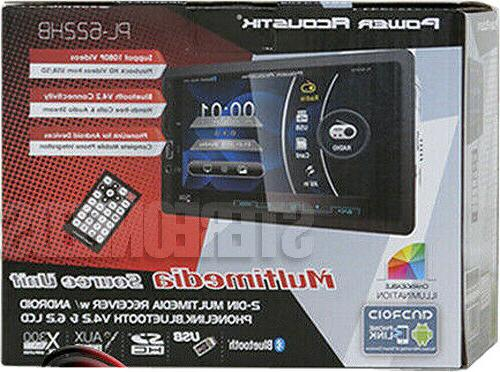 """POWER ACOUSTIK 2 DIN CAR 6.2"""" BLUETOOTH STEREO ANDROID"""