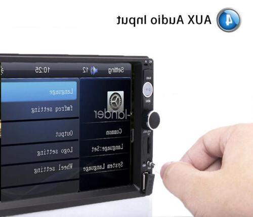 "2DIN 7"" HD Stereo MP5 Bluetooth Screen Rear"