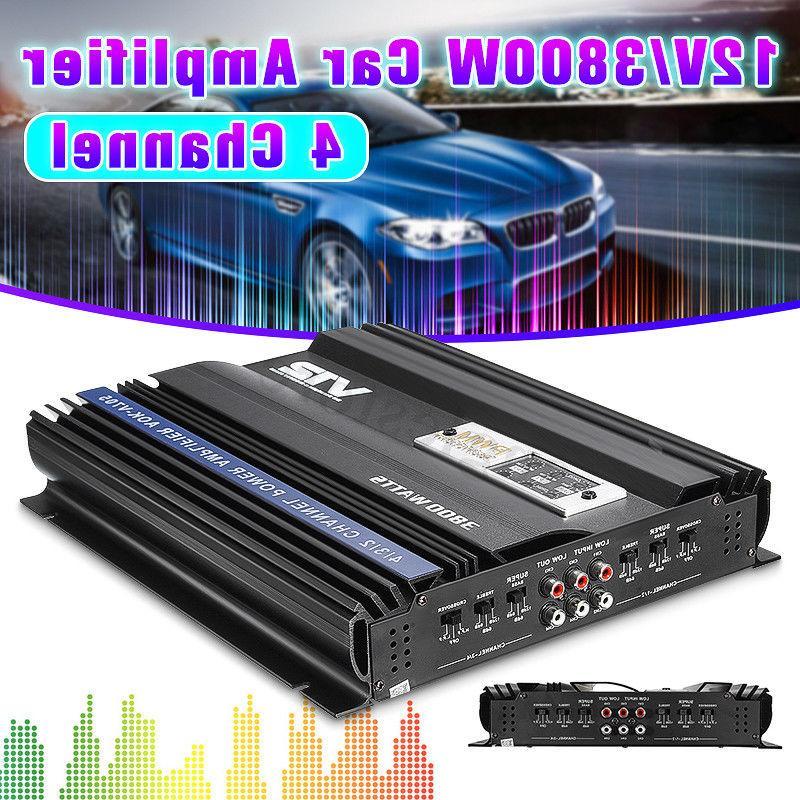 3800W Watt 4 Ch Stereo Super Bass Car Audio Amplifier Power