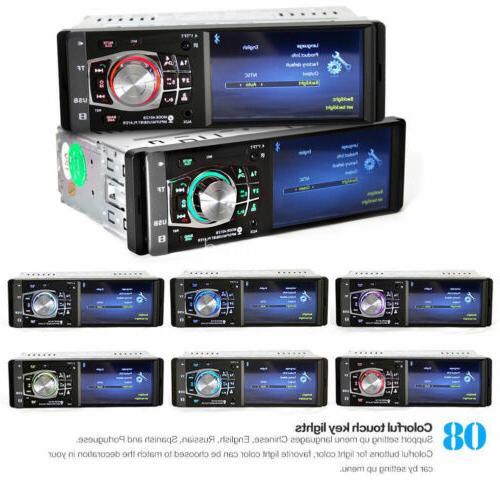 4.1'' Car Radio Bluetooth AUX Wheel Control