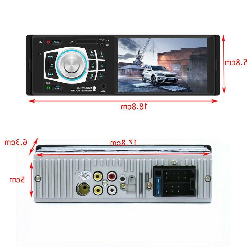 "4.1"" HD Single/1DIN Car Stereo Video Bluetooth FM Radio USB TF"