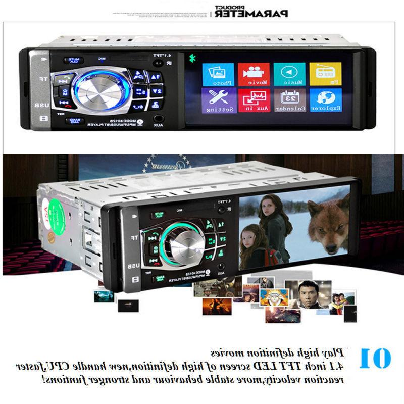 "4.1"" HD Car Stereo MP5 Player BT AUX Camera"