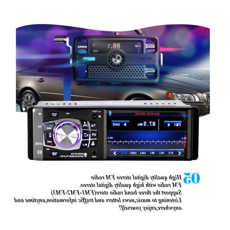 "4.1"" Single Car Stereo Video Player BT Camera"