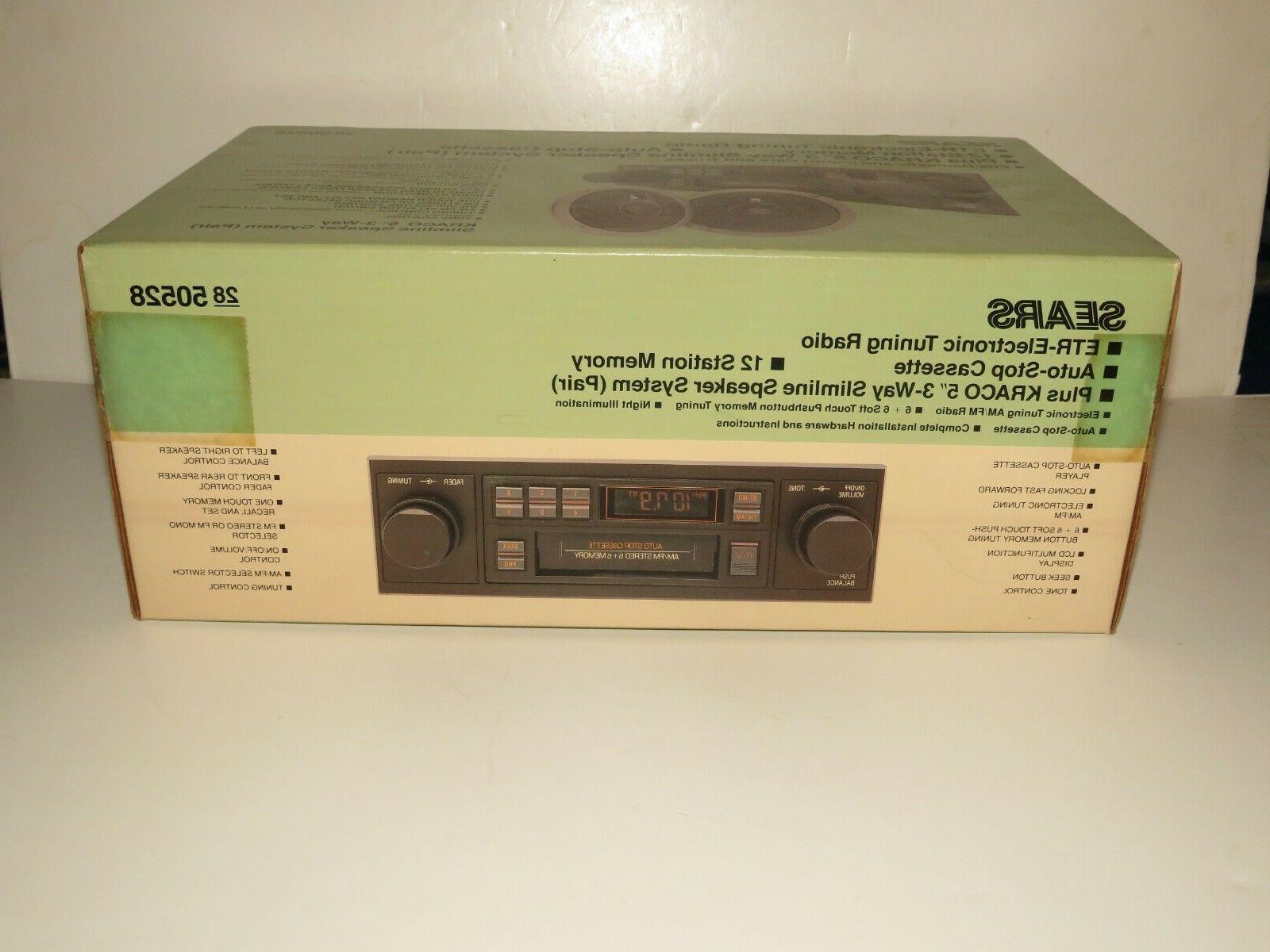 SEARS Cassette Car Stereo Speakers New