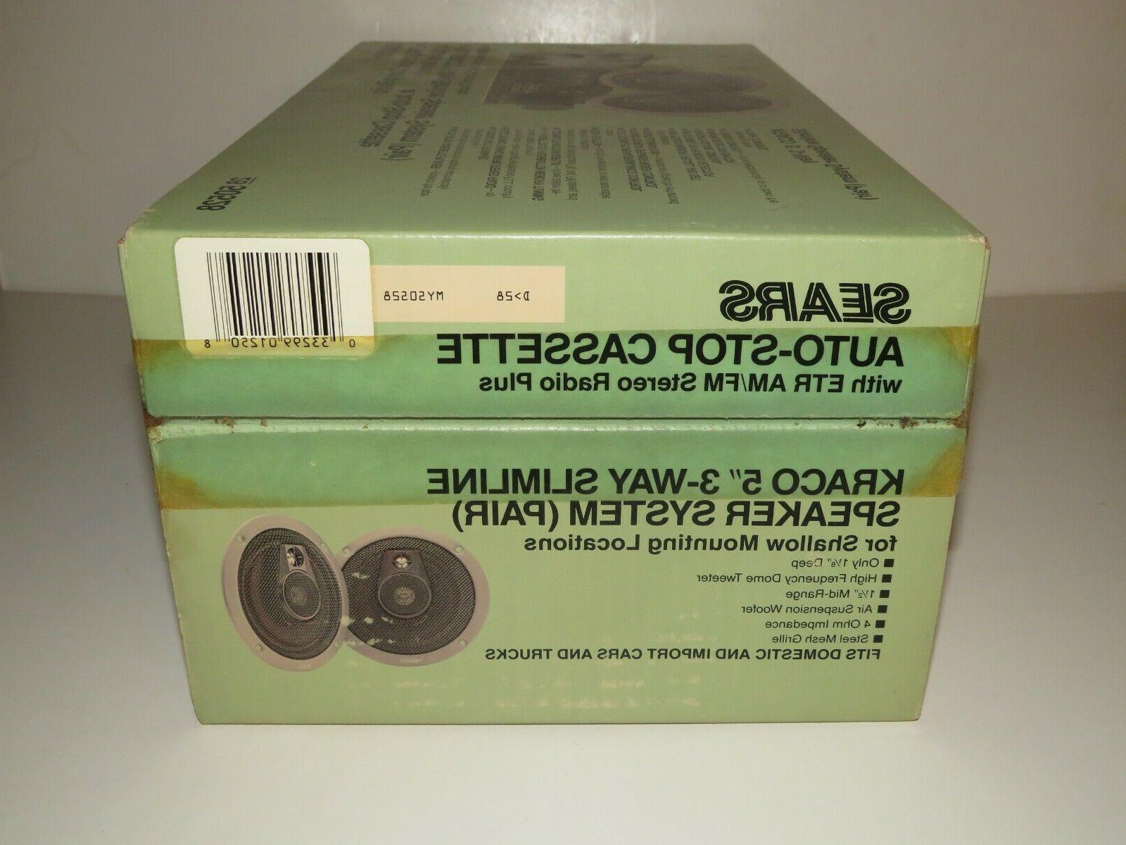 SEARS 50528 ETR Radio Cassette Speakers In