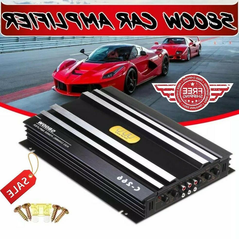 5800W Watt 4 Channel Car Amplifier Stereo Audio Super Bass S