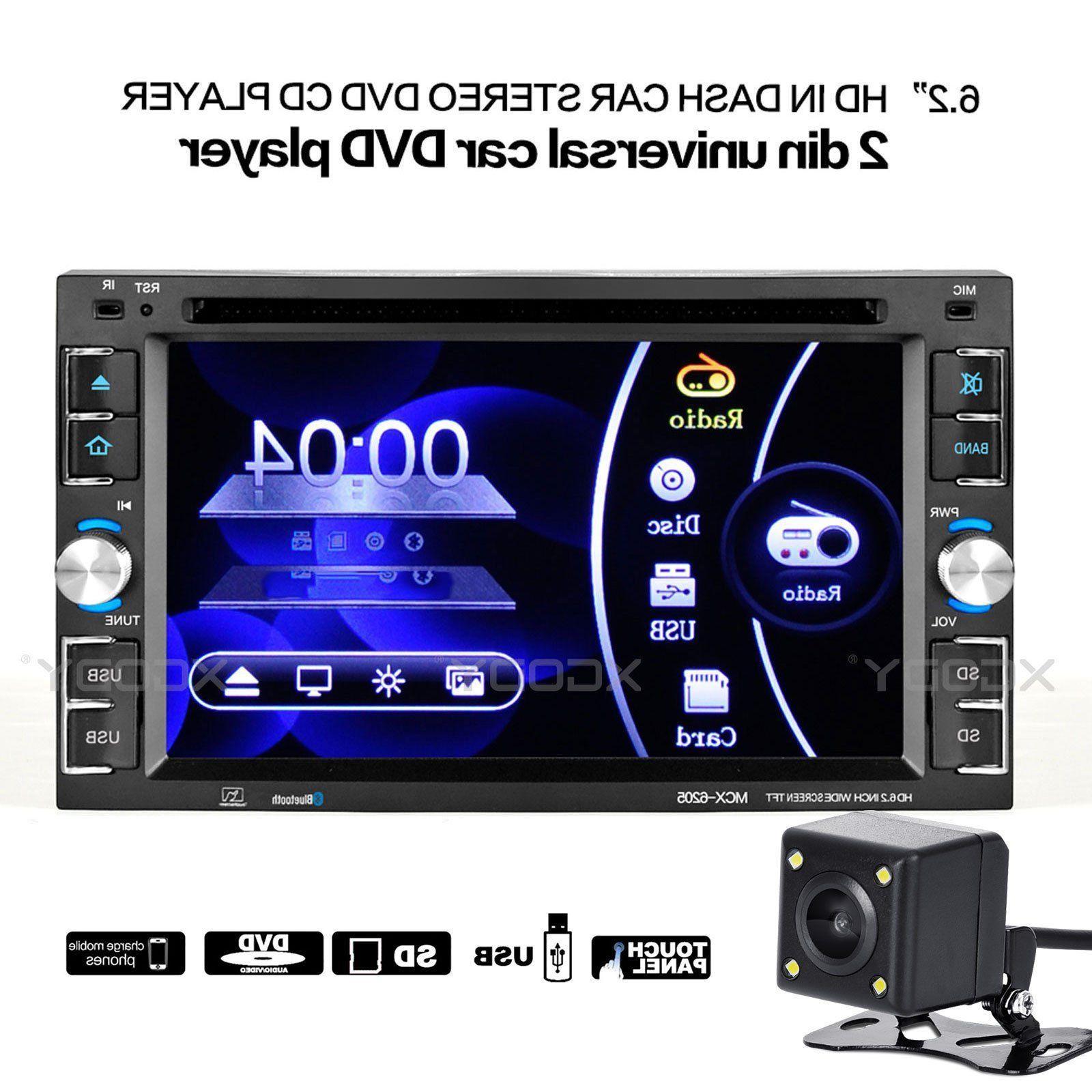 "6.2"" Car Stereo Radio DVD CD MP5 Player 2DIN FM TF Touch Blu"