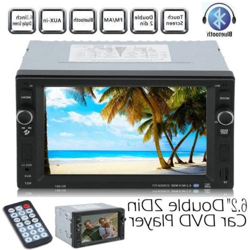 "6.2"" HD 2 DIN In Dash Car Stereo MP5 MP4 NO CD DVD Player Bl"